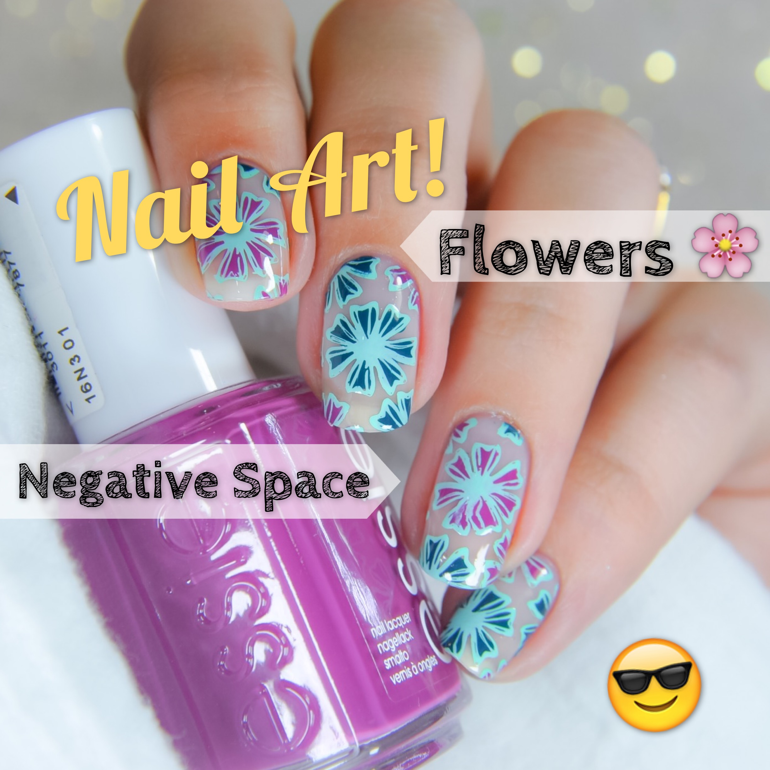 – Flowers + Negative space –