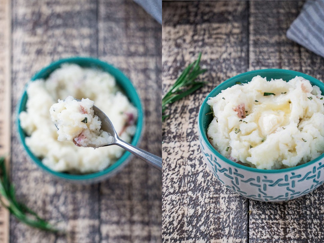 Super Simple Rosemary Almond Mashed Potatoes