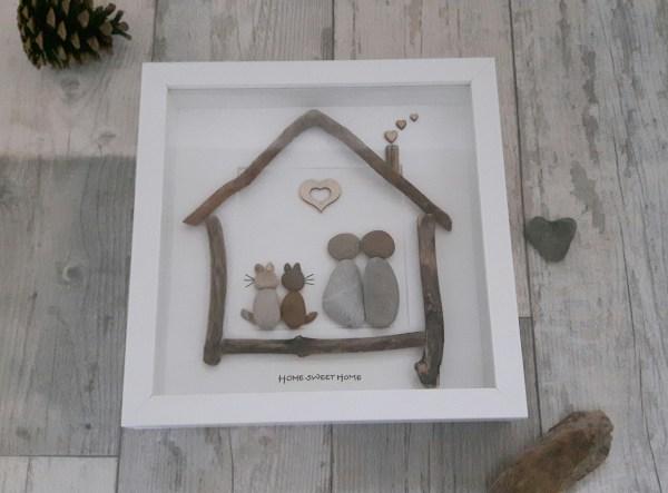 Pebble Art Home Love Nature