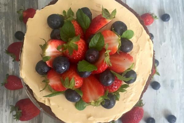 Mokka – Beeren – Schoko – Türmchen für den Kuchenbäcker als Geburtstagskuchen