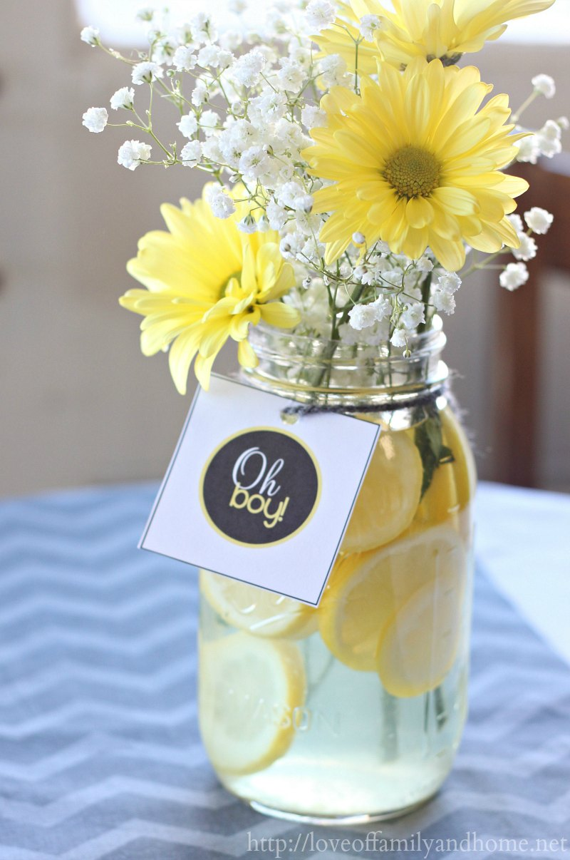 Gray Yellow Baby Shower Decorating Ideas Love Of Family