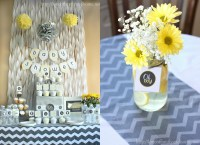 Gray & Yellow Baby Shower Decorating Ideas - Love of ...
