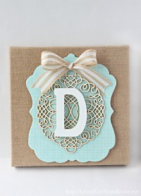 DIY Burlap Monogram {Michaels & Hometalk In-Store ...