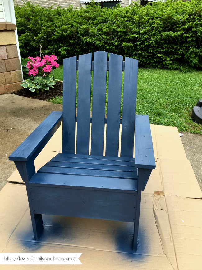 paint for adirondack chairs blue wingback chair spray painted love of family home 5