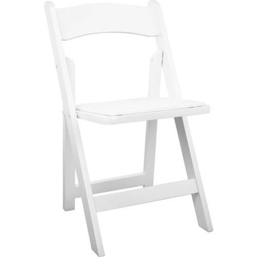 White Wood Folding Chair Rental