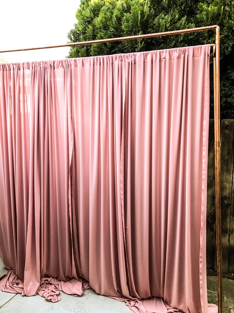 dual copper backdrop stand