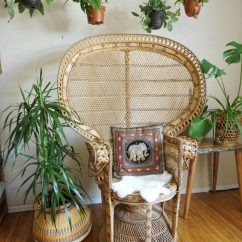 Vintage Peacock Chair Wicker Bar Chairs Classic Ornate Rental