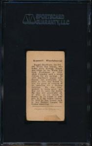 1912 T207 Blackburne back