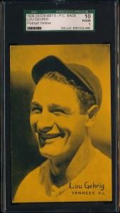 1926 Exhibits Gehrig Front