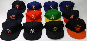 1972/73 game-worn cap collection - one for each AL team!