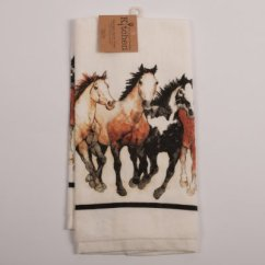Wood Kitchen Table Sets Small Sink Running Horses Terry Towel : Horse Theme Gifts ...