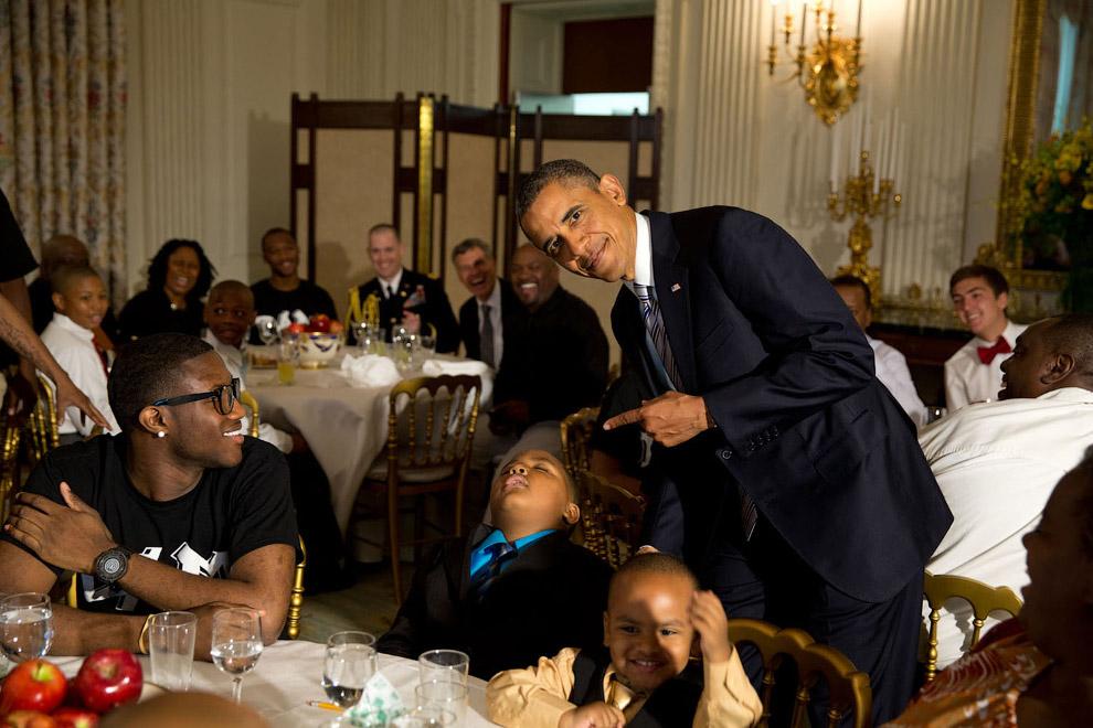 Прием детей в Государственном обеденном зале Белого дома