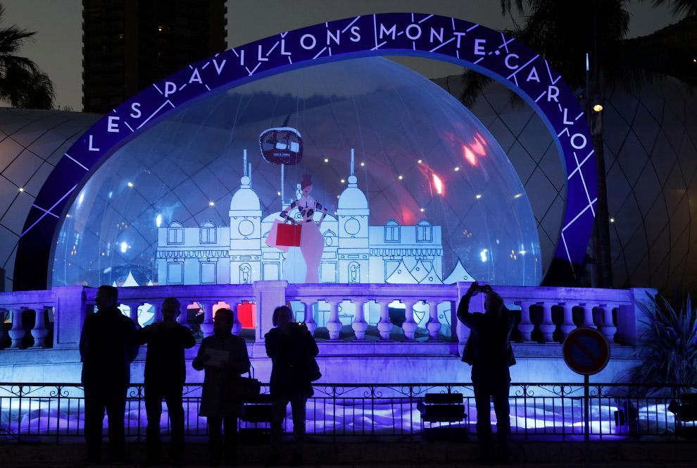 Рождественское оформление в Монако