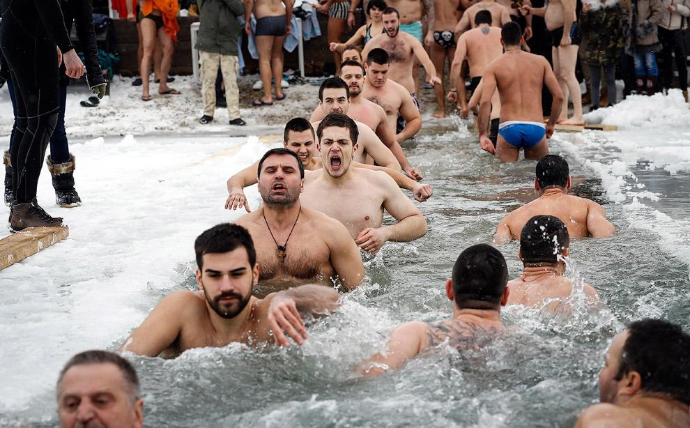 Крещенские купания 2017 в Белграде, Сербия