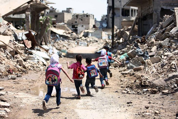 Как ходят в школу в Сирии