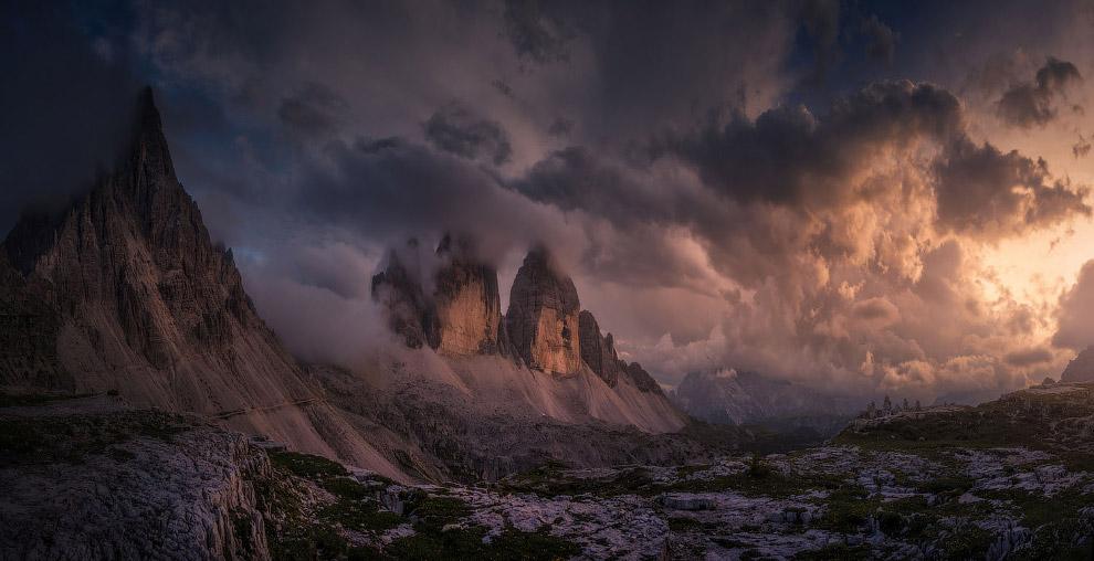 Сумасшедший закат в итальянских Альпах