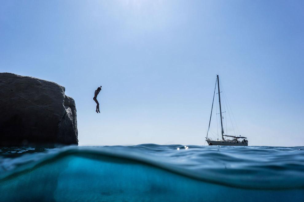 На пляже Геронтаса, Греция