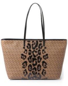 "FENDI ""Roll"" Patent Leather Leopard Tote"