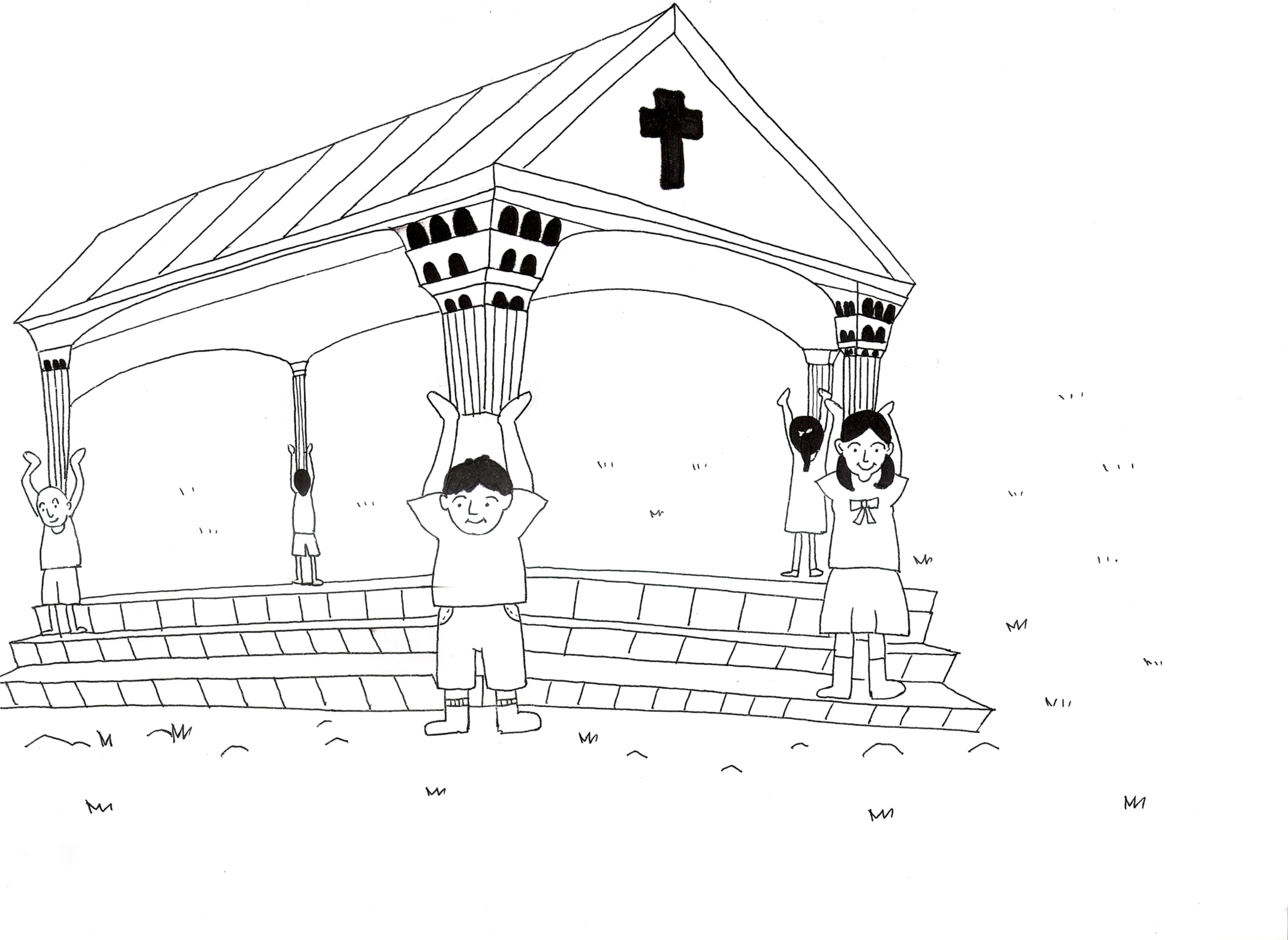 Dibujos De Iglesias Para Colorear La Iglesia De Auto Electrical