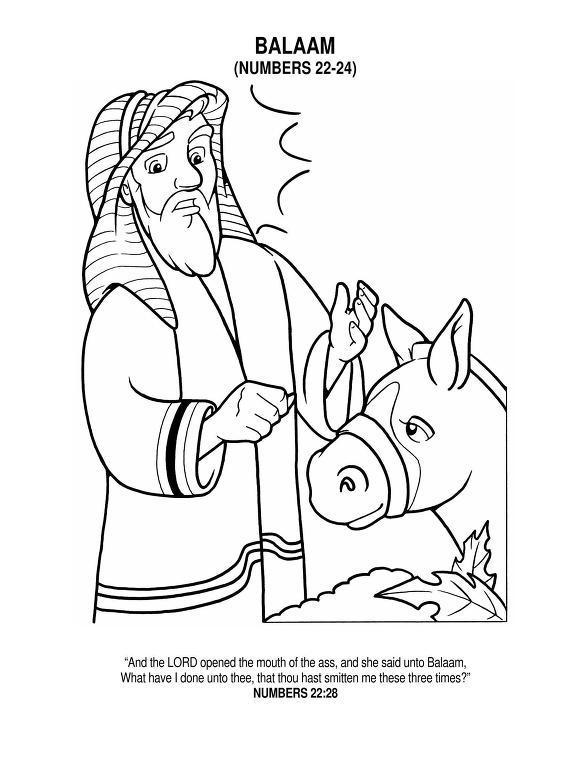 Free coloring pages of balaam talking donkey