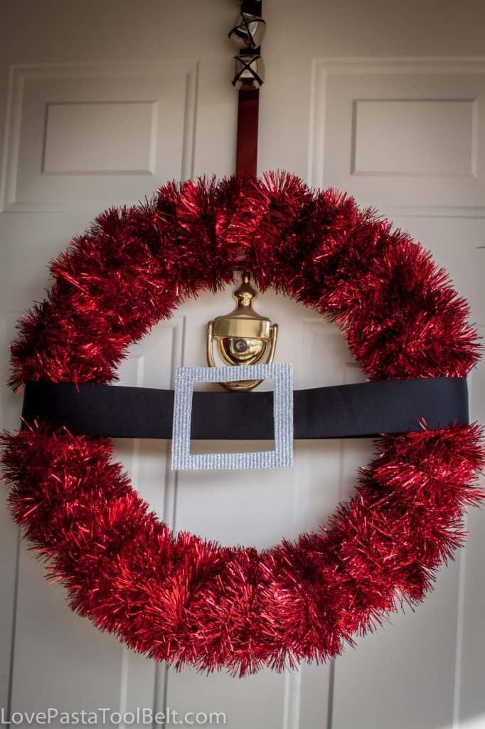 diy santa wreath love