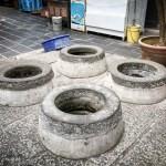 澎湖(ポンフー)中央街のシンボル「四眼井」