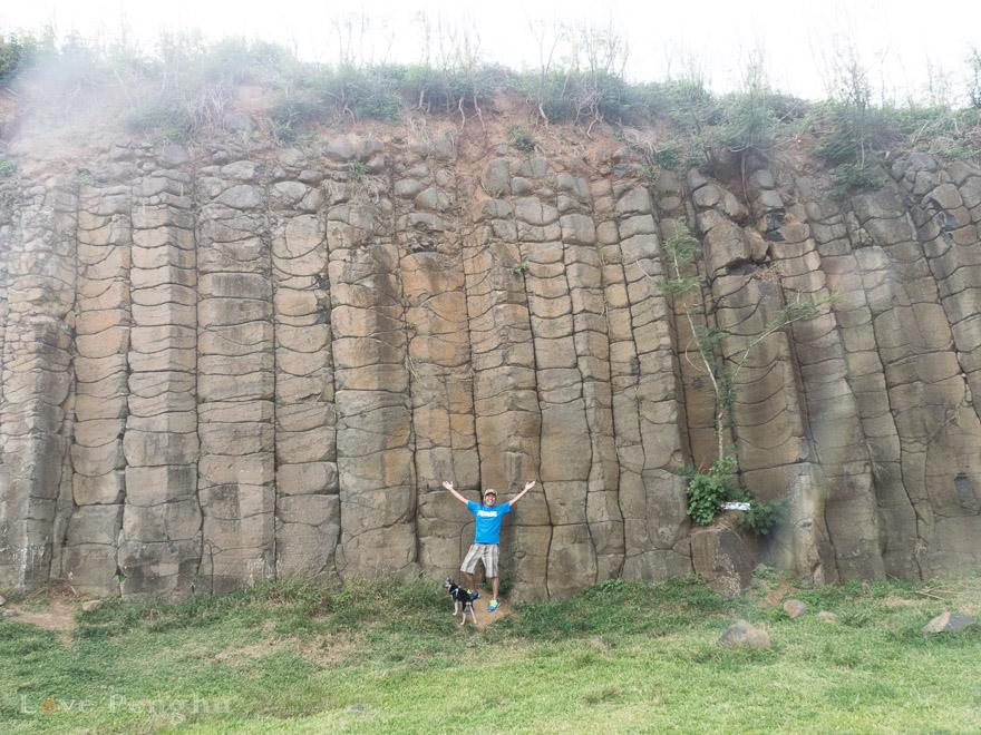 澎湖(ポンフー)の大果葉玄武岩
