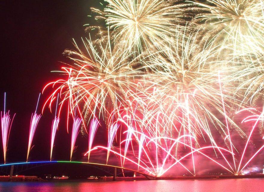 2017年の澎湖(ポンフー)海上花火節について