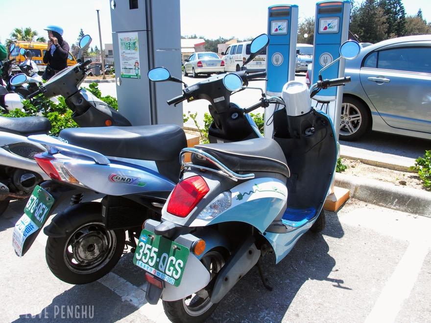 澎湖(ポンフー)では電動バイクが便利