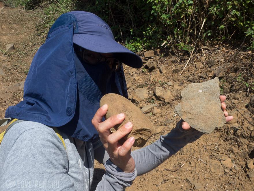 澎湖(ポンフー)の七美で発見された石器と鴨卵石