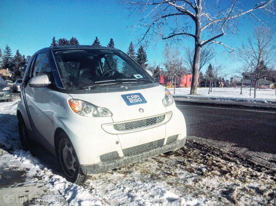 この車両は、アメリカやカナダで展開している小型レンタカー「car2go」。個人的に澎湖(ポンフー)でもぜひ展開してほしいと思っているカーシェアリングサービスだ。