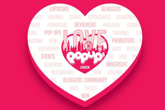 Love Pop Ups London logo with info