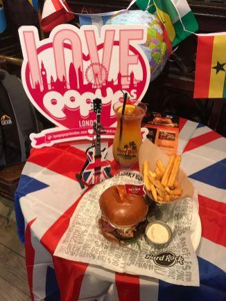 Hard Rock Cafe World Burger Tour burger