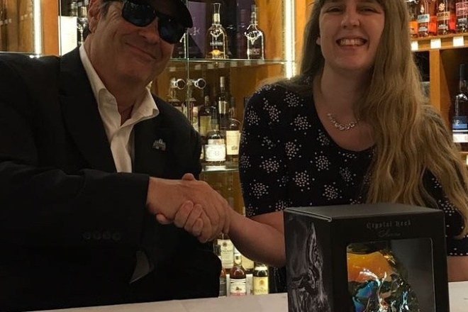 Dan Aykroyd signing at The Whisky Exchange - me meeting Dan