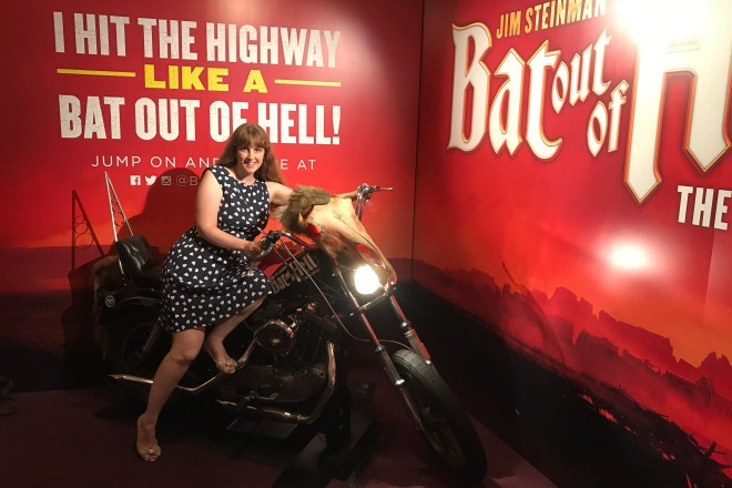 Bat Out of Hell me on motorbike