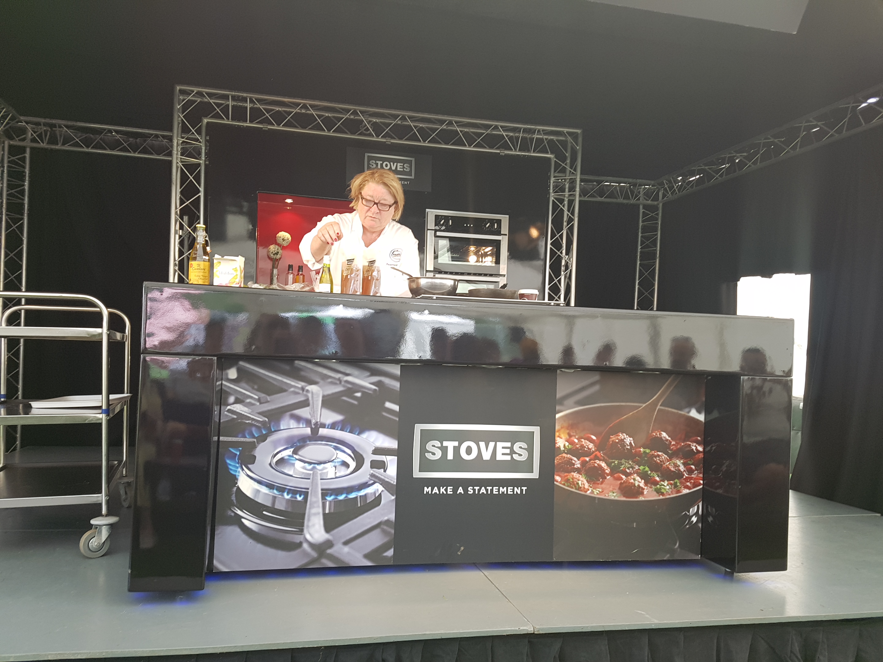 Foodies Festival at Alexandra Palace cooking by Rosemary