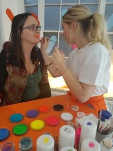 Sprinkles Easy Jet pop up Gemma getting sprinkled up