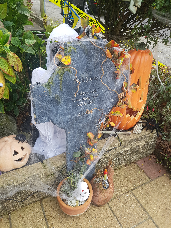 My Halloween grave and pumpkins