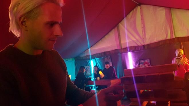 Social Fun and Games Steve playing jenga