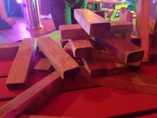 Social Fun and Games Jenga collapsed