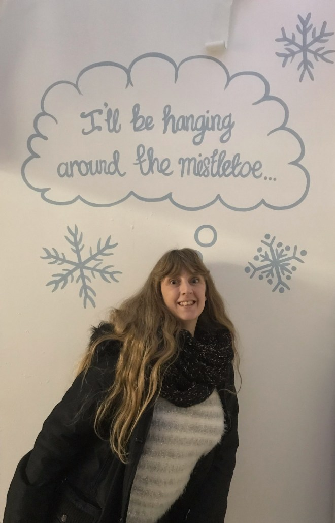 I'll be hanging around the mistletoe