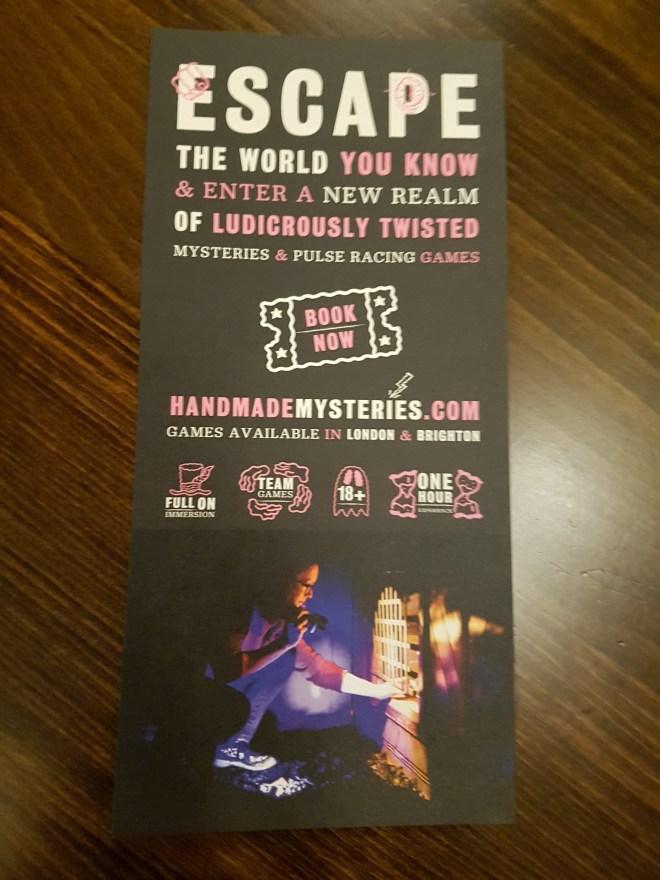 Handmade Mysteries leaflet