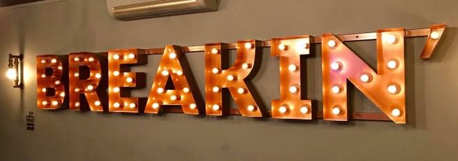 Breakin logo in lights