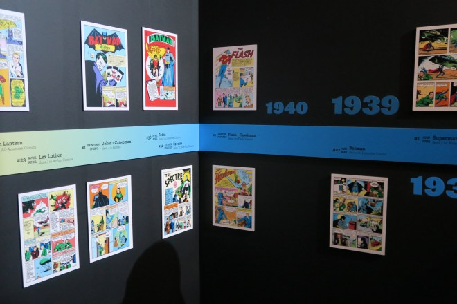 DC Exhibition comic covers
