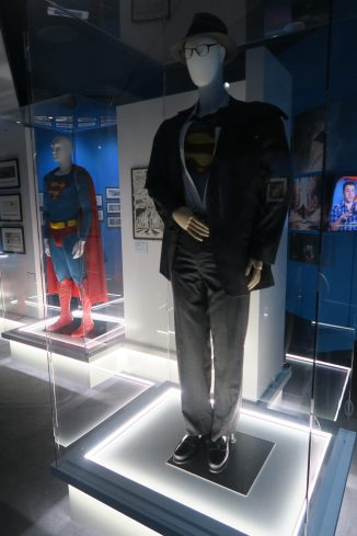 DC Exhibition Superman costumes