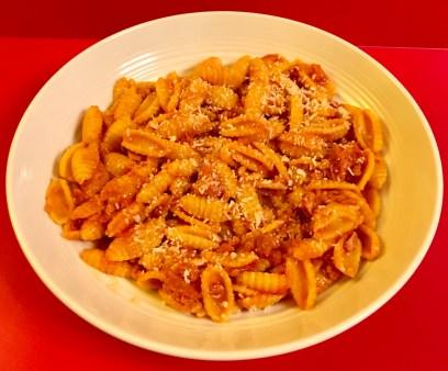 Malloreddus completed dish