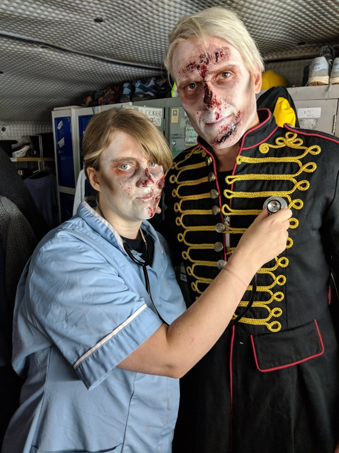London Tombs - Joanne and Steve as zombies