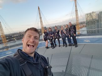 Up at the O2 Nathan selfie with us