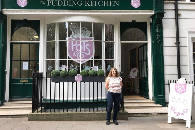 The Pudding Kitchen Pots & Co me outside