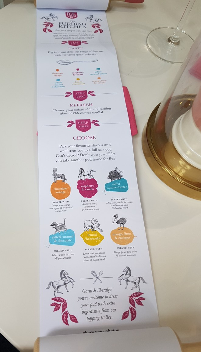 The Pudding Kitchen Pots & Co menu
